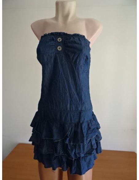 Rochie elastica cu volane