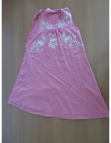 Rochie roz pentru fetite cu floricele