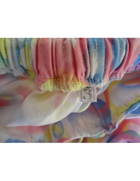 Pantaloni fetite colorati, cu curea