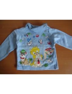 Bluza copii Basak albastra cu capse si maneca lunga