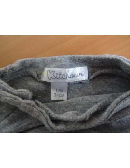 Bluza cu gat Kichoun cu inchedere pe capse