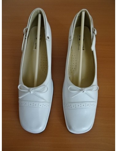 Pantofi JACOMINO albi cu fundita
