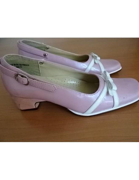 Pantofi JACOMINO roz cu fundita alba