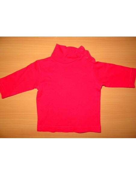 Bluza pe gat groasa roz cu capse