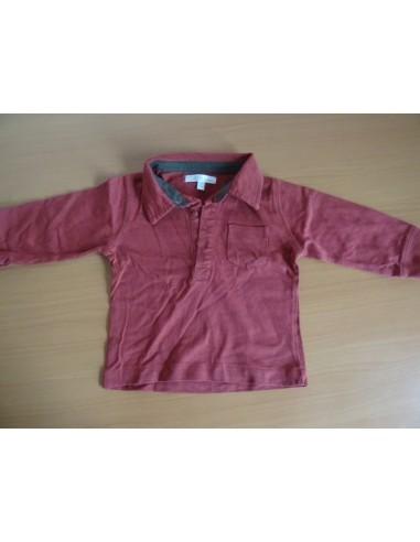 Bluza tip camasa Kitchoun rosie cu maneca lunga