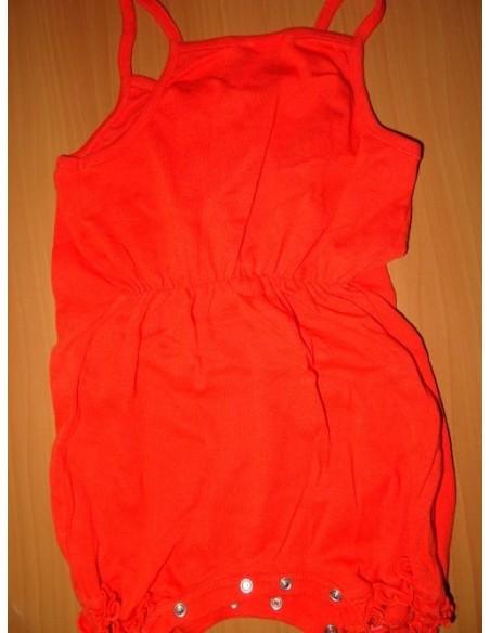 Body rosu cu bretele si elastic la mijloc in spate