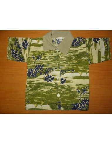 Camasa cu imprimeu tip hawaian verde