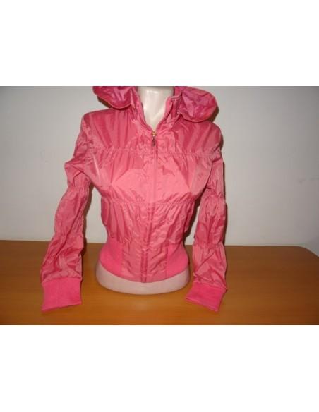 Jacheta roz BLUKIDS cu inchidere prin fermoar si gluga
