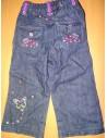 Pantaloni Butterfly negru cu roz