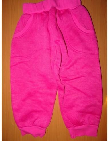 Pantaloni de trening roz cu imprimeu 3 sferturi