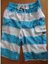 Pantaloni de vara DOPO BOYS albastri cu dungi albe