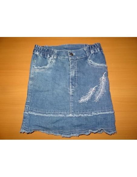 Fusta  jeans cu elastic in talie