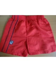 Pantaloni scurti New Born rosii cu elastic