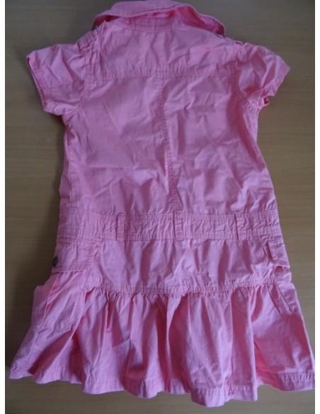 Rochita Okaidi tip sarafan roz cu nasturi