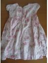 Rochita Sugar Pink roz pal cu flori si maneca scurta de vara
