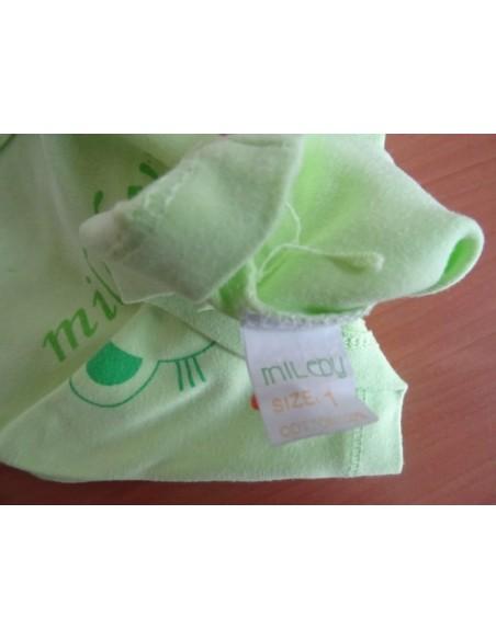 Tricou MiLeby verde u ursulet imprimat pe fata
