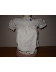 Tricou Sancide alb cu nasturi colorati