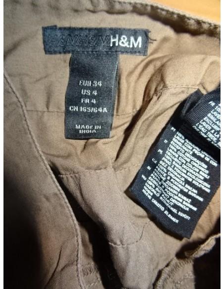 Fusta H&M scurta crem inchis