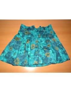 Fusta albastra cu floricele OKAIDI
