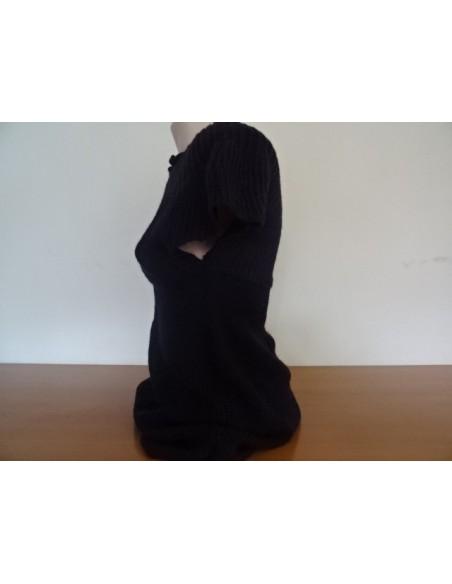Pulover negru cu maneca scurta