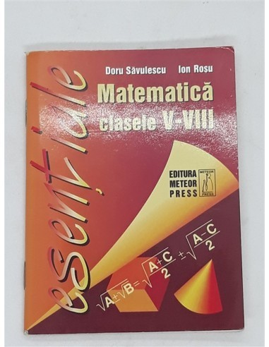 Carticica Matematica, Formule utile...