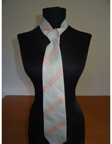 Cravata barbati gri cu dungi