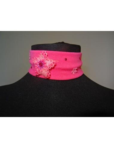 Bentita lata roz cu floricele fetite
