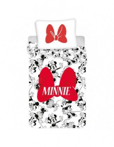 Set lenjerie pat copii MInnie Bow...