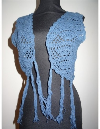 Bolero tricotat cu franjuri Promod