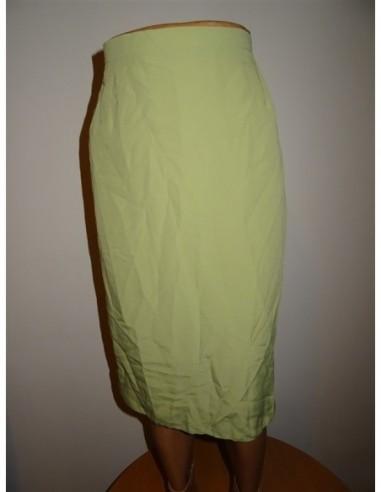 Fusta dama lunga dreapta culoare verde