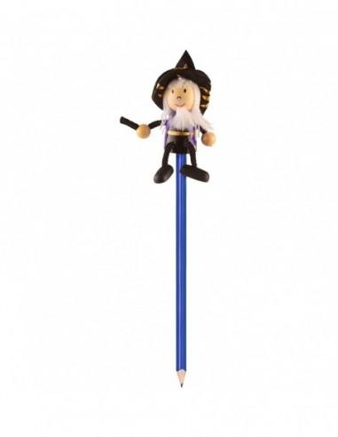Creion cu figurina lemn Vrajitor...