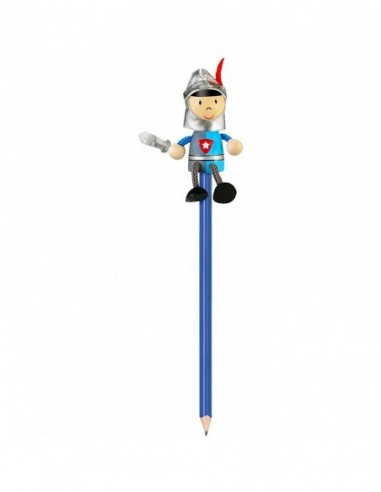 Creion cu figurina lemn Cavaler...