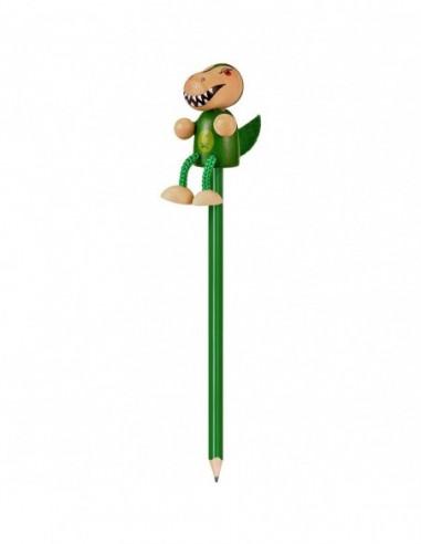 Creion cu figurina lemn T-Rex Fiesta...