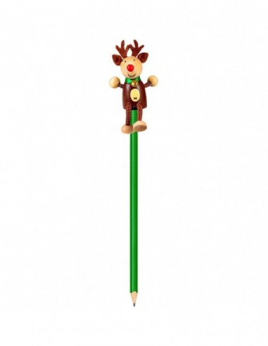 Creion cu figurina lemn Ren Fiesta...