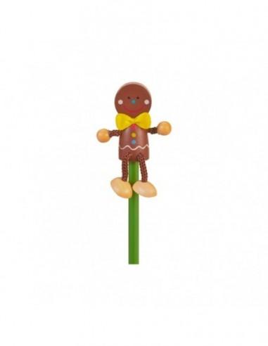 Creion cu figurina lemn Om Turta...