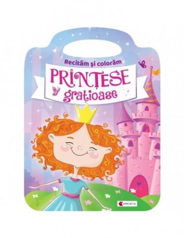 Carte de colorat Printesele gratioase...