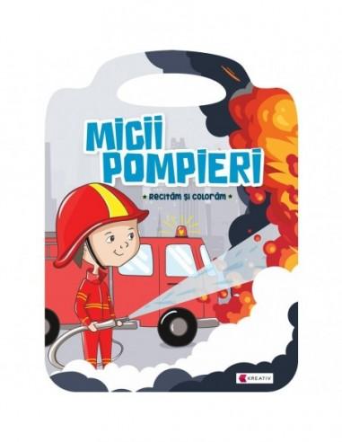Carte de colorat Micii pompieri...
