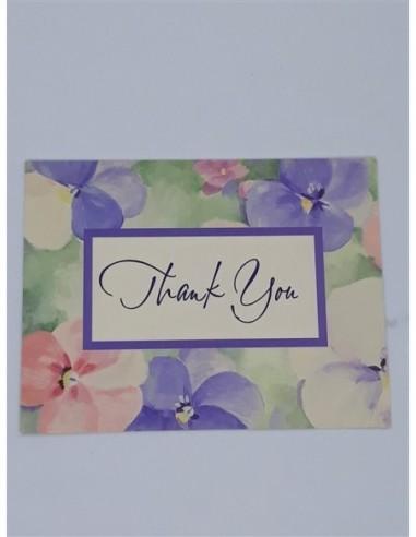 Felicitare cu Thank You si floricele