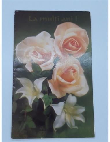 Felicitare cu trandafiri si crini La...