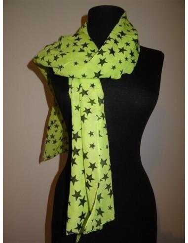 Esarfa dama verde cu stelute negre