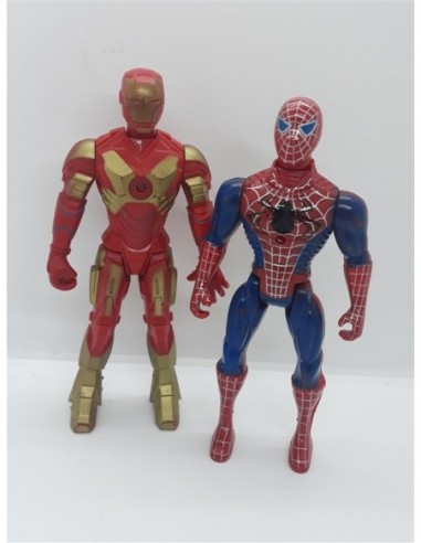 Set doua figurine Iron Man, Spider Man