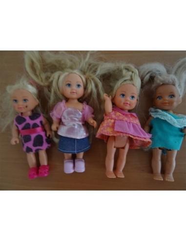 Set patru mini papusele pentru fetite
