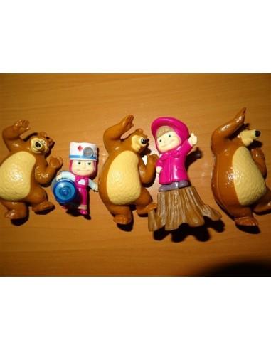 Set cinci figurine Masha si Ursul