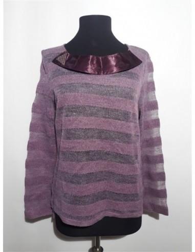 Pulover dama tricotat cu bentita si...