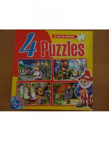 Set Puzzle 4 bucati Basme D Toys