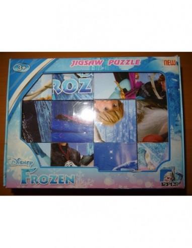 Puzzle cuburi Frozen, 12 piese