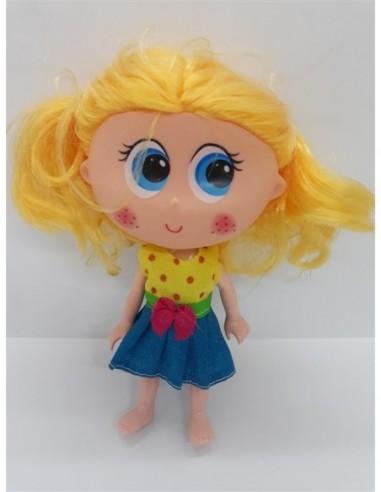 Mini papusica cu codite pentru fetite