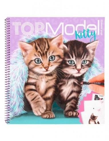 Carte de colorat Pisici Top Model...