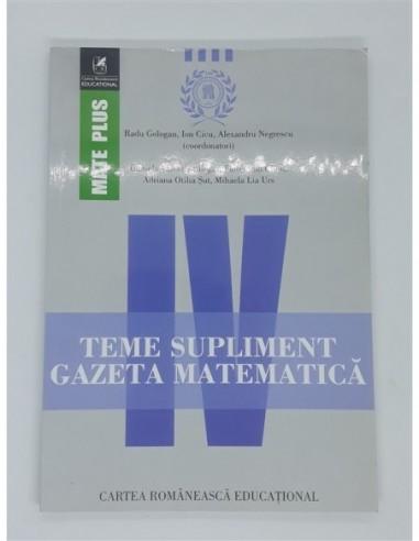 Teme supliment Gazeta Matematica Clasa 4