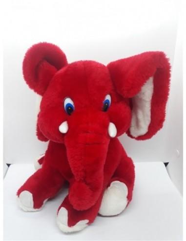 Jucarie de plus Elefant rosu